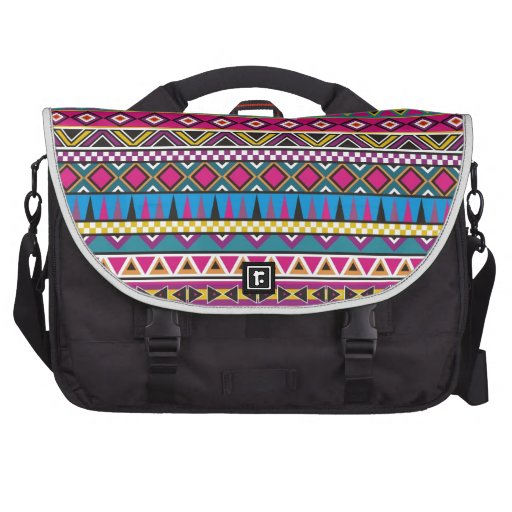 Aztec inspired pattern bag for laptop