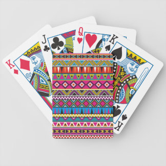 Aztec inspired pattern bicycle playing cards