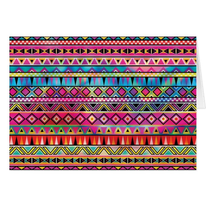 Aztec inspired pattern card