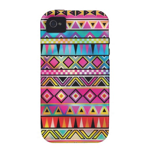 Aztec inspired pattern vibe iPhone 4 covers