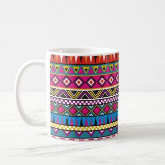 Aztec inspired pattern coffee mug