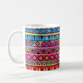 Aztec inspired pattern coffee mug