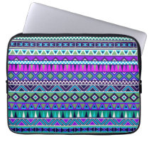 Aztec inspired pattern computer sleeve
