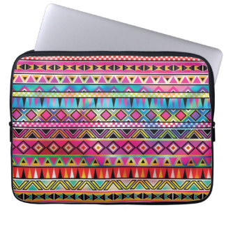 Aztec inspired pattern computer sleeves