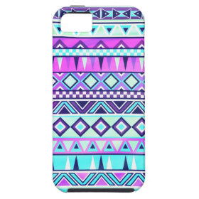 Aztec inspired pattern iPhone 5 cover
