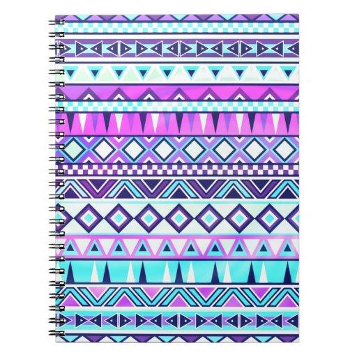 Aztec inspired pattern journals