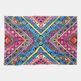 Aztec inspired pattern kitchen towels