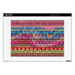 Aztec inspired pattern laptop decals