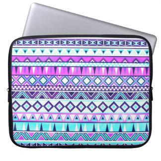 Aztec inspired pattern laptop sleeves