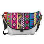 Aztec inspired pattern messenger bags