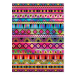Aztec inspired pattern post card