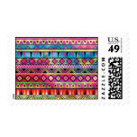 Aztec inspired pattern postage