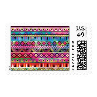 Aztec inspired pattern postage