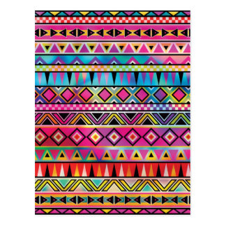 Aztec inspired pattern postcard