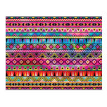 Aztec inspired pattern postcard