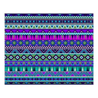 Aztec inspired pattern poster