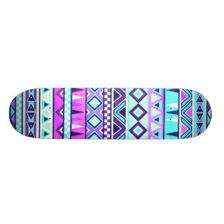 Aztec inspired pattern skateboard deck