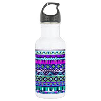 Aztec inspired pattern water bottle