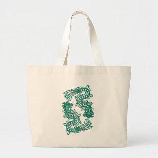 Aztec Jade Serpents Tote Bags