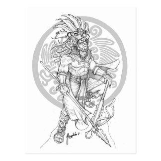 Aztec Jaguar Warrior Postcard