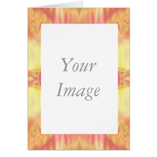 Aztec-like frame greeting cards