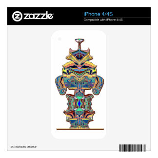 aztec  like image skin for iPhone 4S