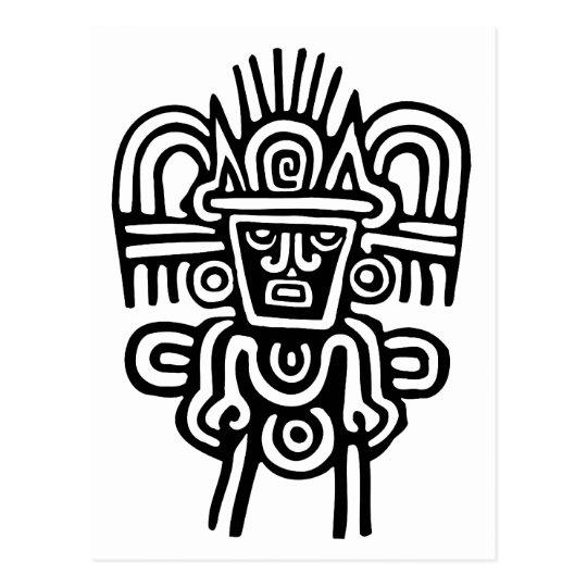 Aztec Man Postcard