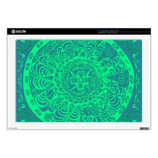 "Aztec Mandala 17"" Laptop Decal"