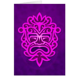 Aztec Mask Design – purple Card