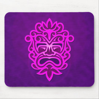 Aztec Mask Design – purple Mouse Pad
