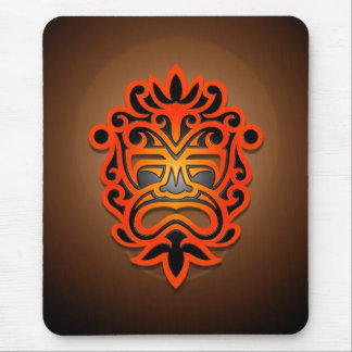 Aztec Mask Design (red) Mouse Pad