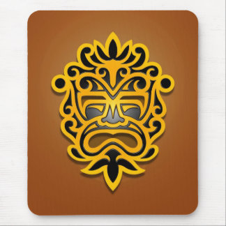Aztec Mask Design (yellow) Mouse Pad