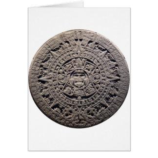 Aztec MAYAN CALENDAR Stone - December 21, 2012 Card