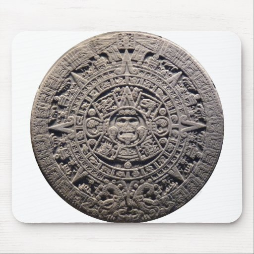 Aztec MAYAN CALENDAR Stone - December 21, 2012 Mousepads