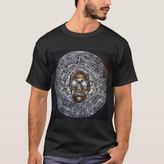 aztec mayan calendar with skull t-shirt
