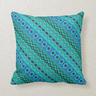 Aztec Mayan Indian Tribal Paint Geometric Pillow