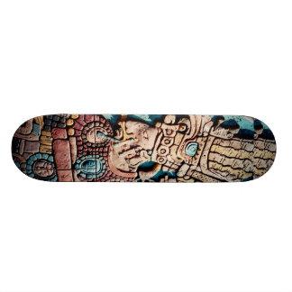 Aztec Mayan priest Skate board deck design