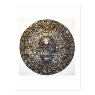 Aztec/Mayan Skull Warrior Calendar Post Cards