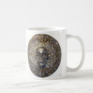Aztec/Mayan Skull Warrior In Sun Stone  Mug