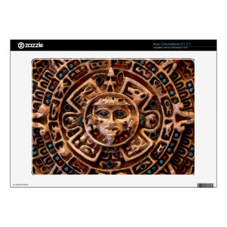 Aztec Mayan Sun Calendar Ancient Art Acer Skin Decal For Acer Chromebook