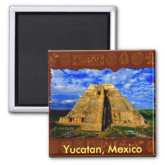 Aztec Mayan Temple Yucatan Mexico Collection Magnet