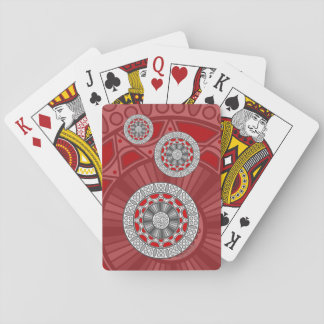 Aztec Meets Alien Classic Playing Cards