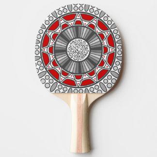 Aztec Meets Alien Ping Pong Paddle