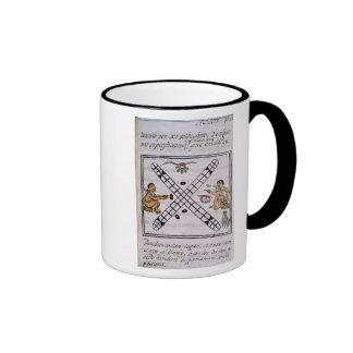 Aztec men gambling Patoli Ringer Mug