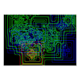 Aztec Microchip Posters