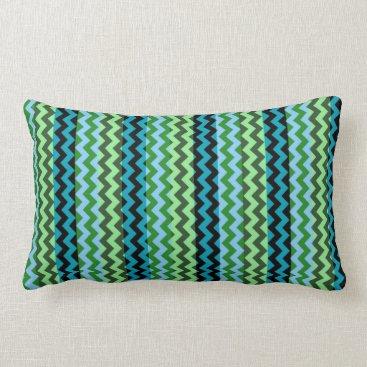 Aztec Themed Aztec Mint Chevron Zigzag Stripe Pattern Lumbar Pillow