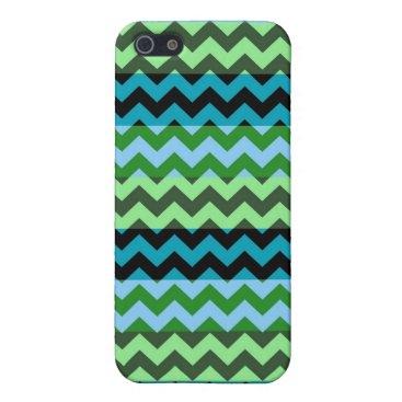 Aztec Themed Aztec Mint Green Chevron Zigzag Stripe Pattern iPhone SE/5/5s Case