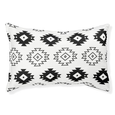 Aztec Themed Aztec Monochrome Modern Dog Bed