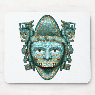 Aztec Mosaic Quetzalcoatl Mask Mouse Pad