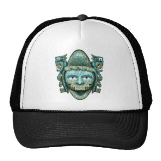 Aztec Mosaic Quetzalcoatl Mask Trucker Hat